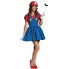 Super Mario: Mario w/Skirt Adult Costume
